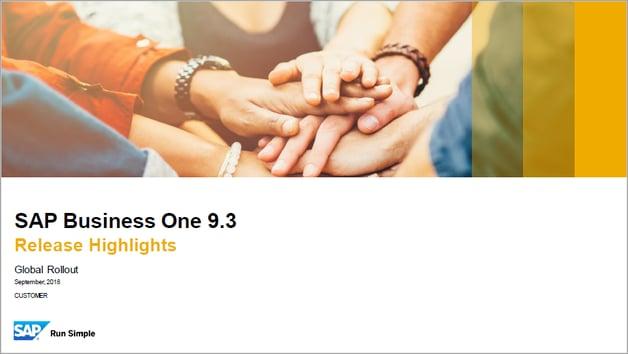 SAP Business One 9.3 Highlights_Sept_18